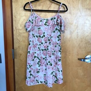 Forever 21 Cold Shoulder Floral Dress